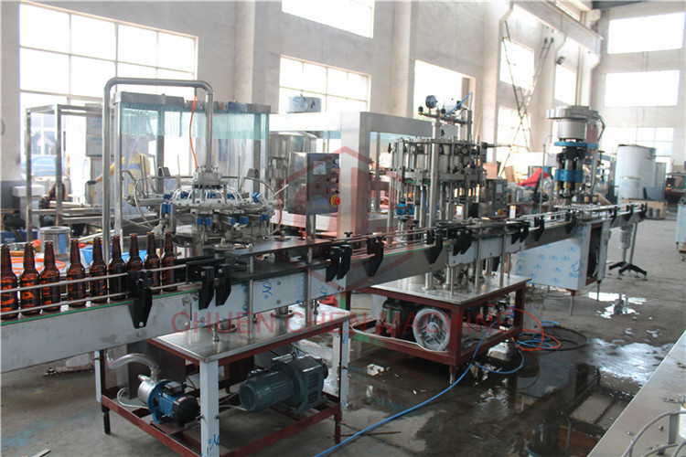 370ML Glass Bottle Carbonated Drink Filling Machine , Beer Bottle Capping Machine